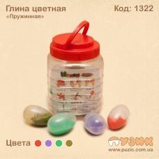 """Глина цветная """"Пружинная"""""""